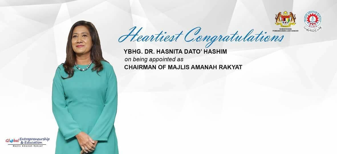 Dr. Hasnita Dilantik Pengerusi Majlis Amanah Rakyat (MARA) Baru