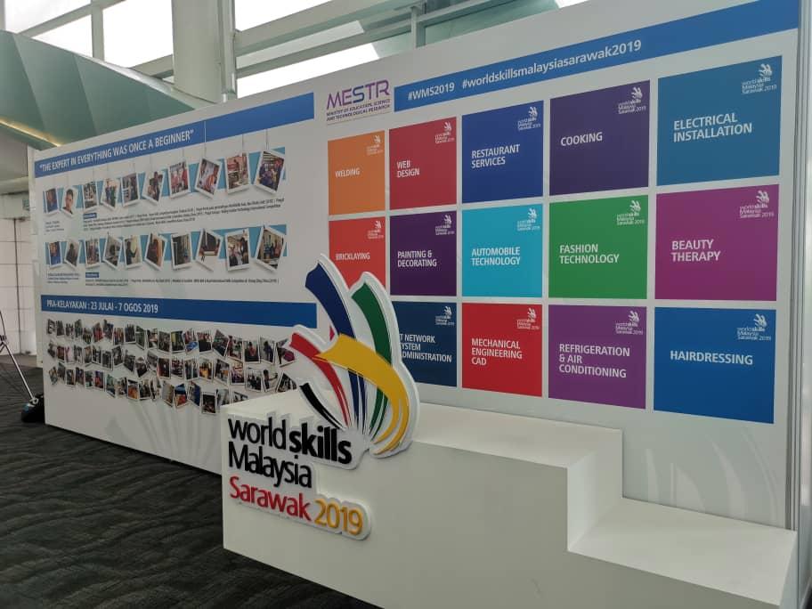 World Skills Malaysia Sarawak 2019 Di BCCK Meriah